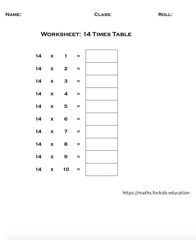 worksheet table 14-min