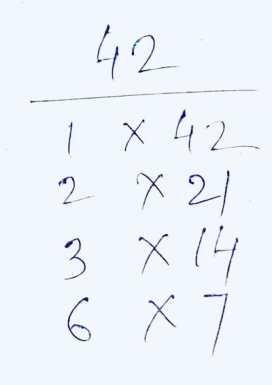 Factors of 42