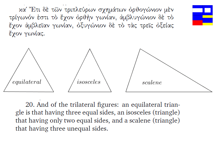 First Definition of Triangles