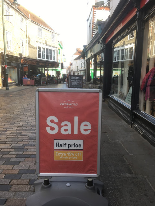 Sale Prices: Fifty Seven Point Five Percent Off on Streets of Canterbury!