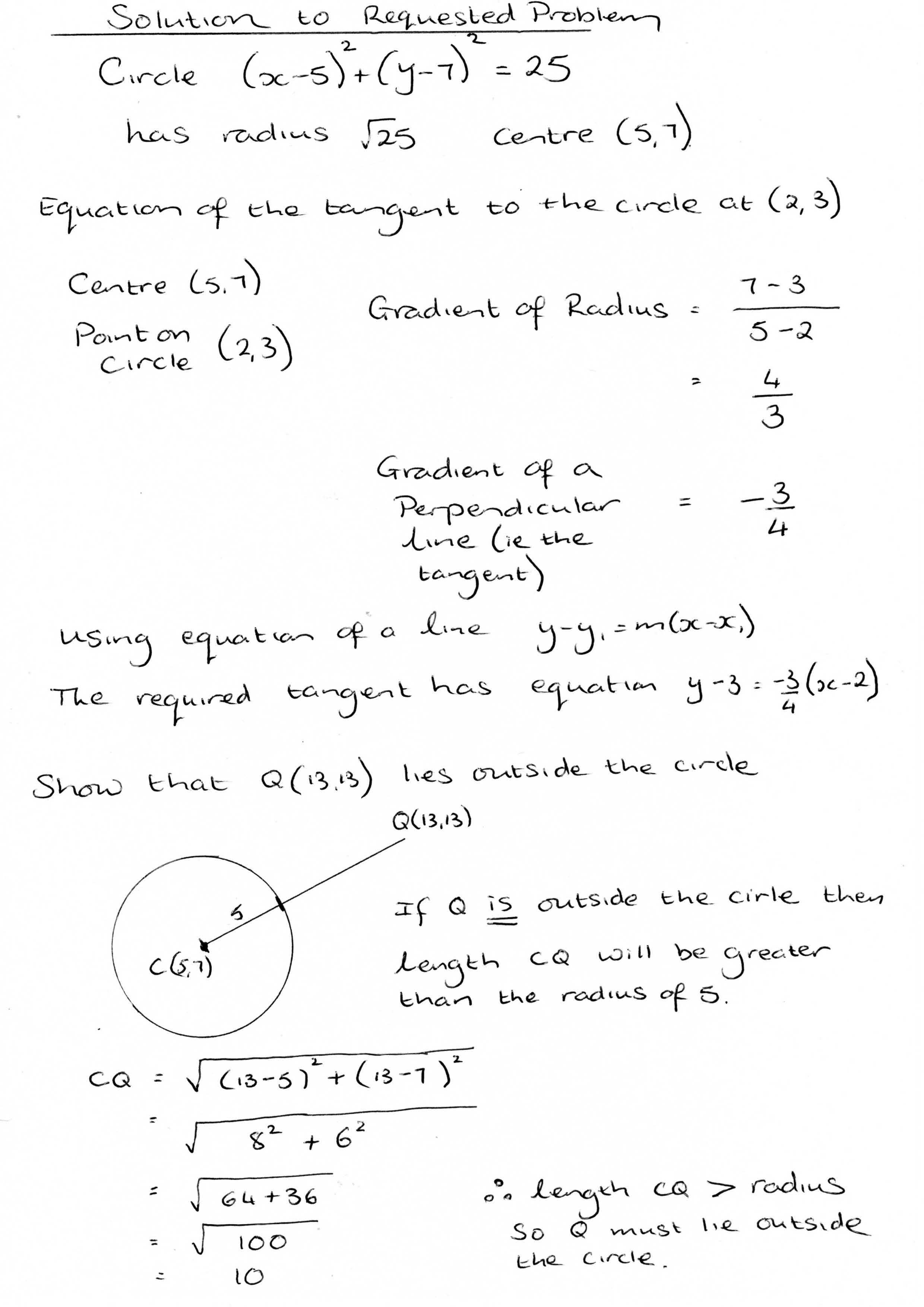 Circle Equation Questions