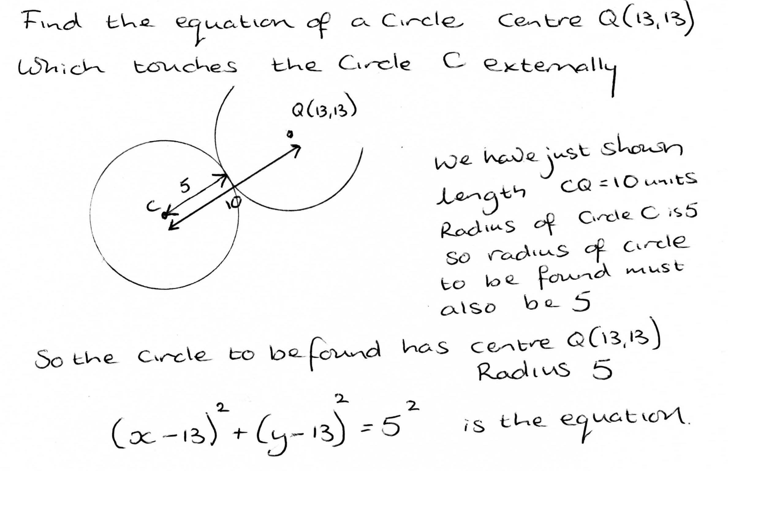 Further Maths Wjec C2 Coordinate Geometry Of The Circle