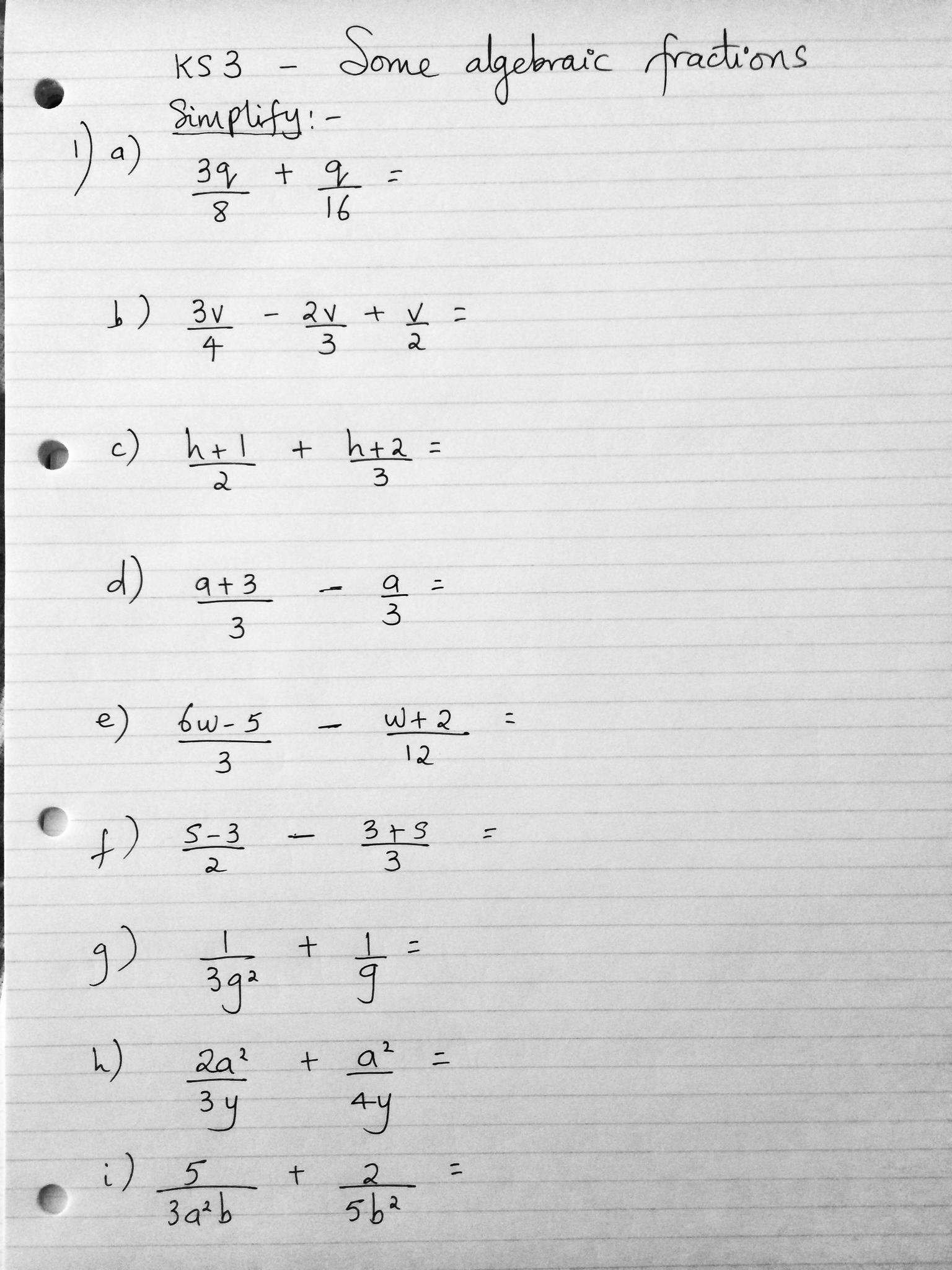 Algebraic Fractions Gcse Amp Ks3