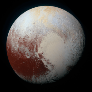 Figure 1: Closeup of Pluto By New Horizons.