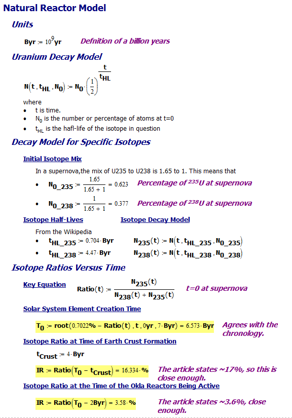 Figure M: Isotope Ratio Calculations.
