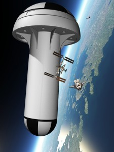 Figure 1: United Space Structures Proposal for a Rotating Space Station.