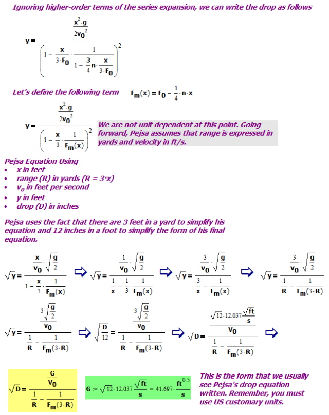 Figure 6: Approximate Solution Using US Customary Units.
