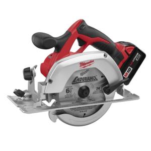 Figure 1: Milwaukee 6.5 inch Battery-Powered Circular Saw (source).