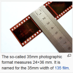 Figure 2: 35 mm Film Reference.