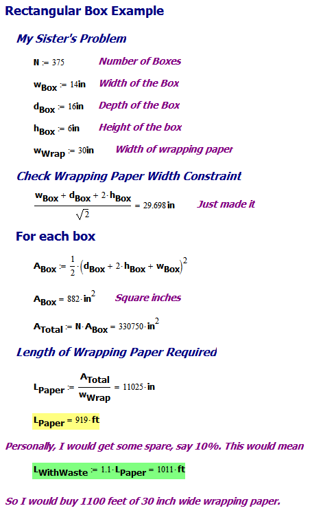 Gift Wrapping Math | Math Encounters Blog