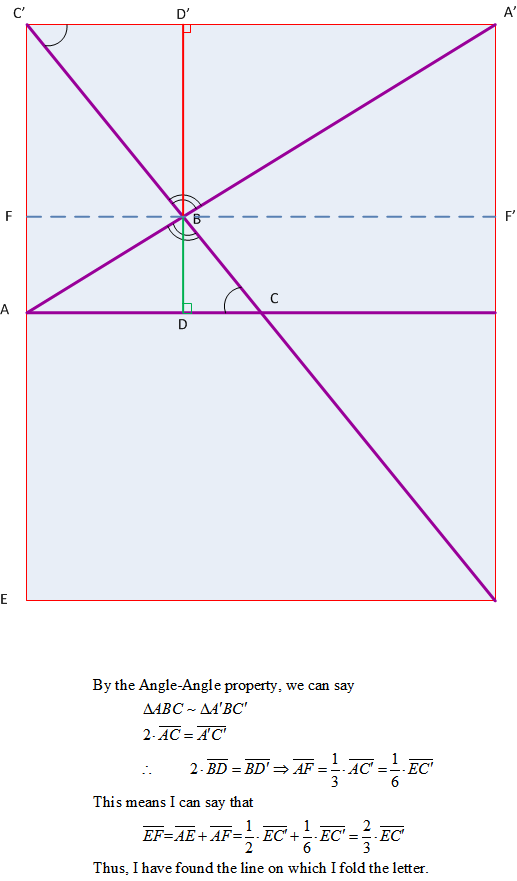 Figure 4: Geometry Behind Origami Method.