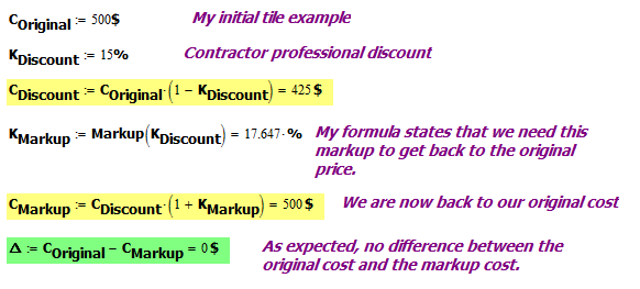Figure 5: Example of a Correctly Computed Markup.
