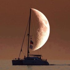 Figure 1: Great Photo of the Moon and a Ship.