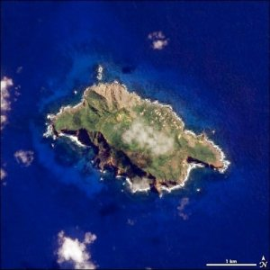Figure 1: Pitcairn Island As Seen from the International Space Station.