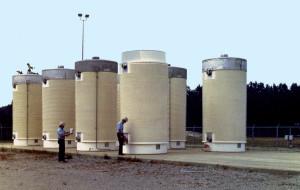 Figure M: Dry Storage of Spent Fuel.
