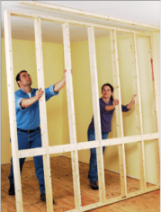 FIgure 1: Putting a Non-Bearing Wall Into Position.