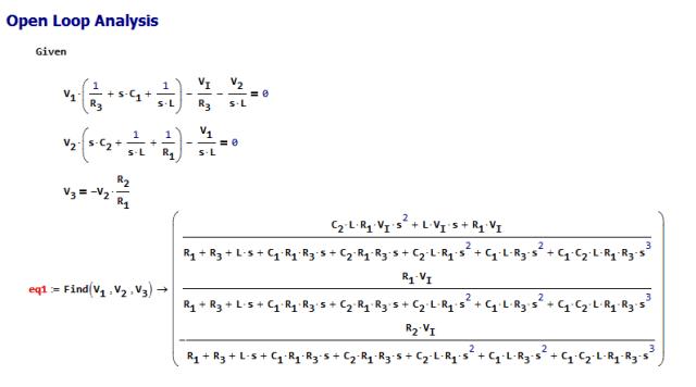 Figure 3: Circuit Analysis.