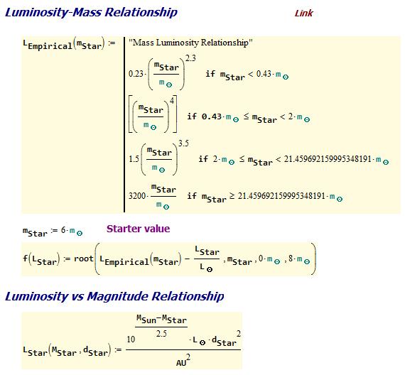 Figure M: Mass-Luminosity Relation.