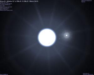 Figure 1: Sirius and its CompanionStar (Source).