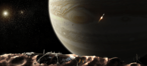 Figure 1: Artist's Conception of the View From a Base on Metis.
