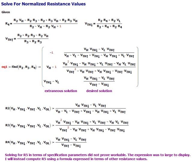 Figure M: Solve For Resistance Formulas.
