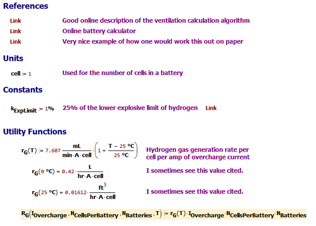 Figure M: Calculation Setup.