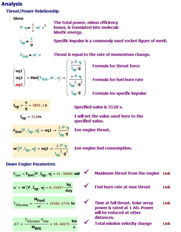 Figure 4: Determination of Four Key Engine Parameters.