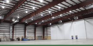 Figure 1: Commercial LED Lightning Deployment Using DC Power Distribution.