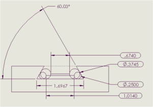 Figure 1:Side Angle Measurement of Slot.
