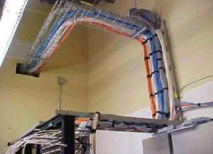 Figure 1: Example of Very Neat Network Cable Bundles.