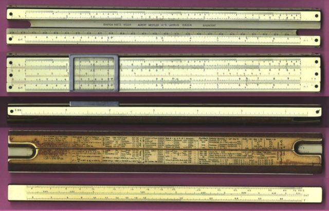Figure 4: Detailed Photo of Nestler 23 Slide Rule.