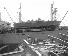 Figure 2: PT-109 on board SS_Joseph Stanton.