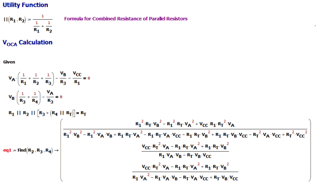 Figure M: Derivation of Resistance Formulas.