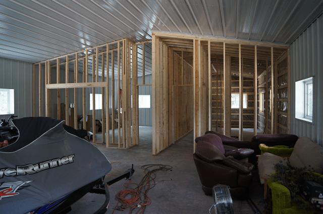 Figure 5: Garage Internal Framing.