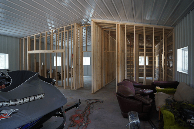 Figure 5: Garage Internal Framing.
