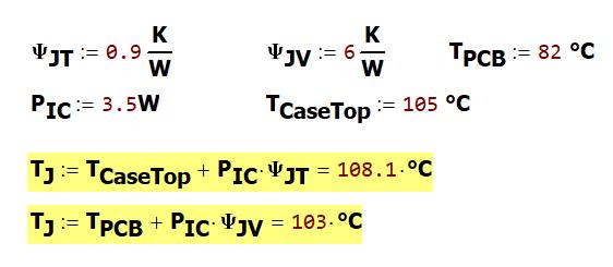 Figure 5: Two Ways to Estimate Junction Temperature.