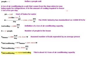 Figure 1: HVAC Load for 17 People.