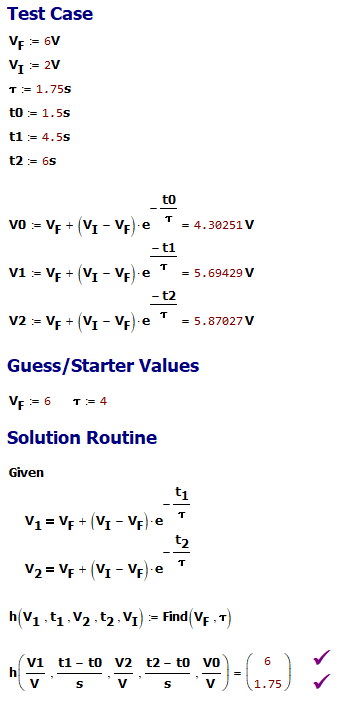 Figure M: Mathcad Solution.