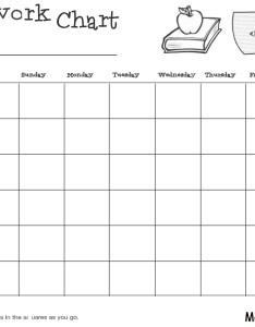 Homeworkchartoutlines also homework chart rh smartexcel