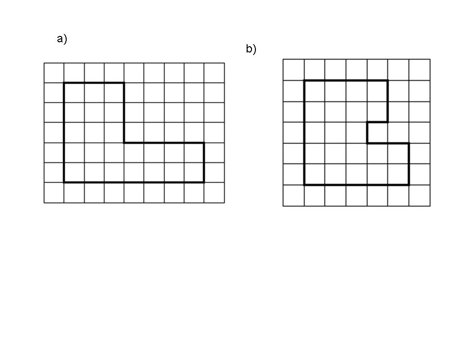 5. Calculate the area and the perimeter of the following