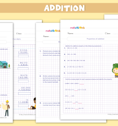 Addition Worksheets for Grade 4 PDF - Addition Sums for Class 4 with Answers [ 2181 x 4167 Pixel ]