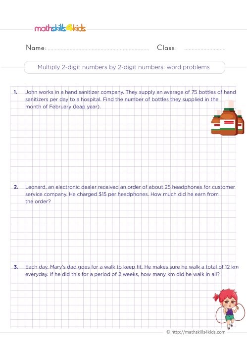 small resolution of 4th grade math worksheets with answers pdf - Free printable worksheets for fourth  grade