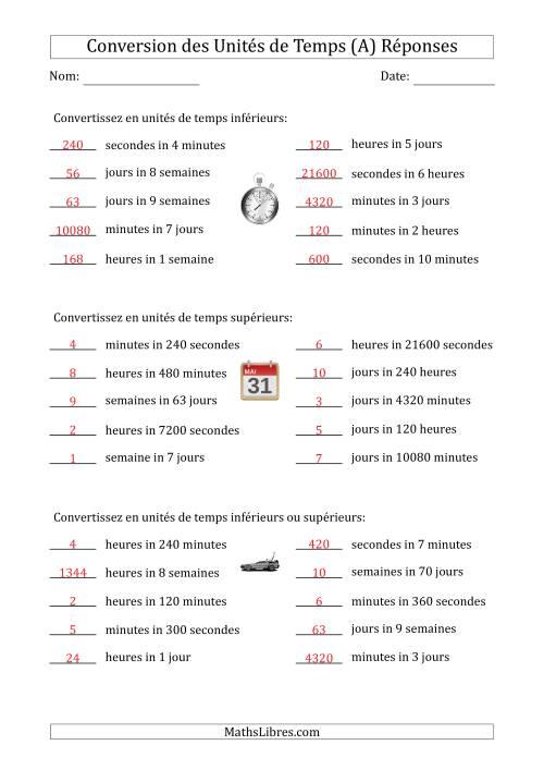 Combien De Secondes Dans Une Heure : combien, secondes, heure, Conversion, Entre, Secondes,, Minutes,, Heures,, Jours, Semaines, Étape