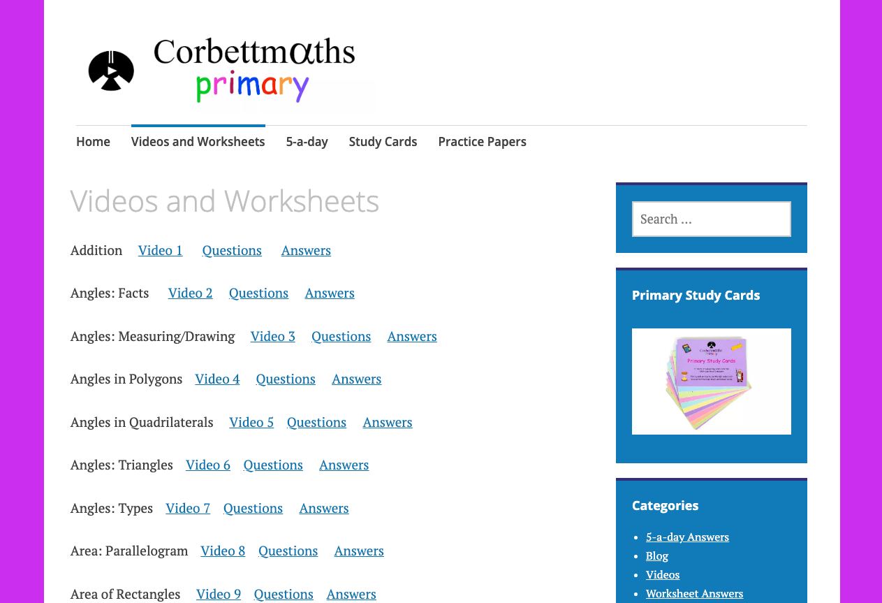 hight resolution of Corbett Maths Worksheets   Printable Worksheets and Activities for  Teachers