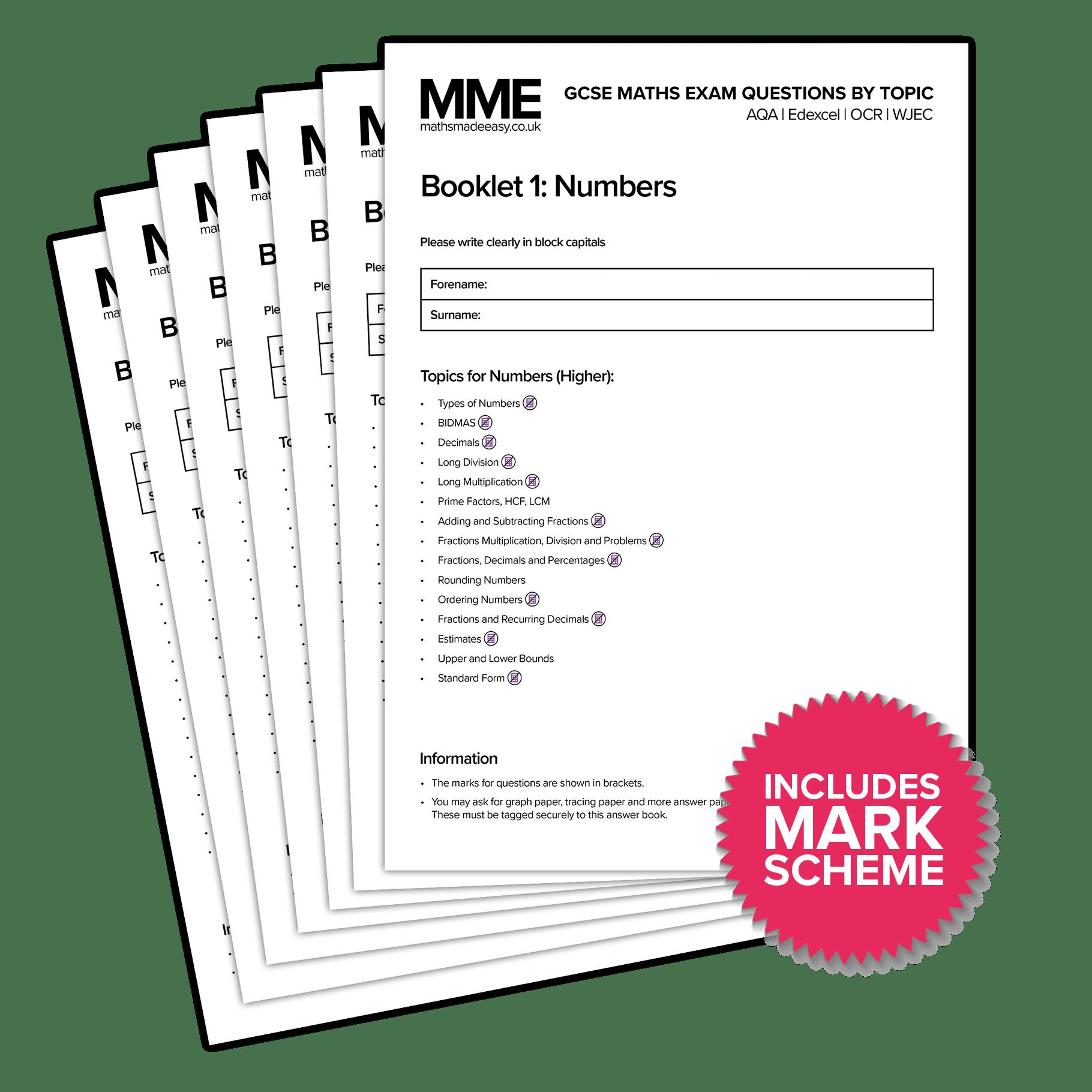 Gcse Maths Exam Worksheets