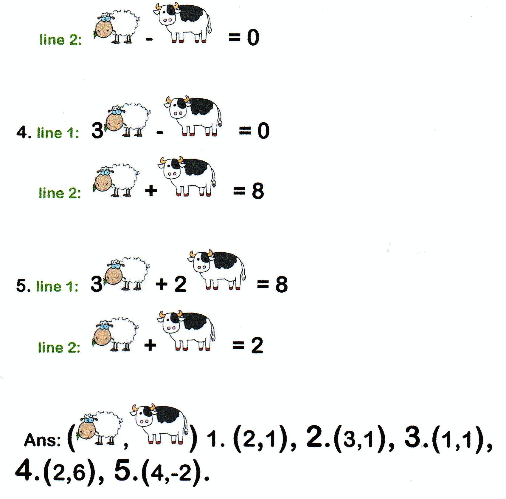 Math Worksheet Joke Answers