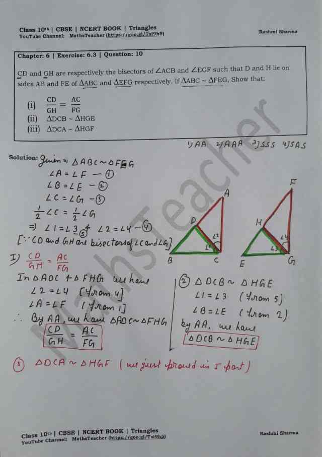 class 10 chapter-6 ex 6.3 Q-10