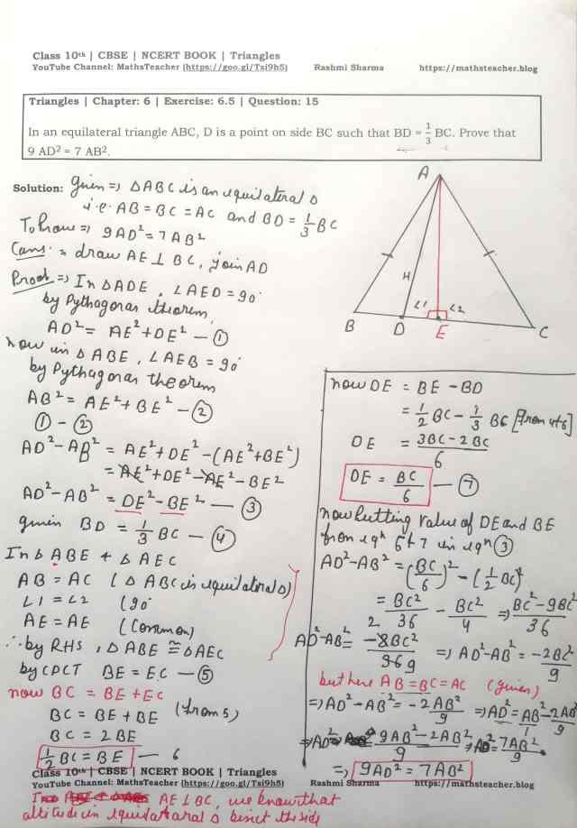 class 10 chapter-6 ex 6.5 Q-15