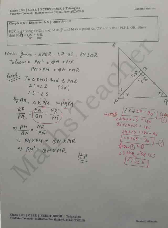 class 10 chapter-6 ex 6.5 Q-2