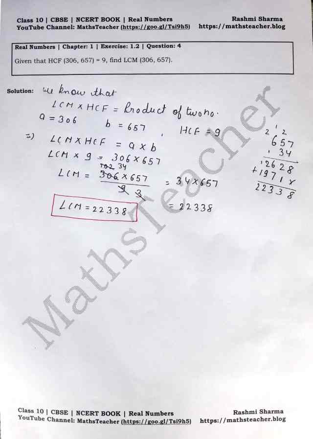 Class 10 Maths Real Numbers Exercise 1.2 Question 4